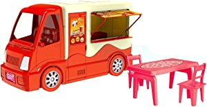 PlayMarket Pretend Play Fast Food Truck, Unique Toy Play Set for Kids, Fast Food Car Educational Game, 17 Piece
