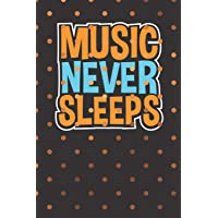 Music Never Sleeps: Music Journal & Song List Tracker Gift With Beautiful Coloring Pages