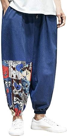 Pantalones Para Hombre Con Bordado De Manner Sport Beam Elegantes Con Estampado Nacional Chino De Algodon Con Cordon Hombre Hniunew Sport Marine Xxxxx Large Amazon Es Deportes Y Aire Libre