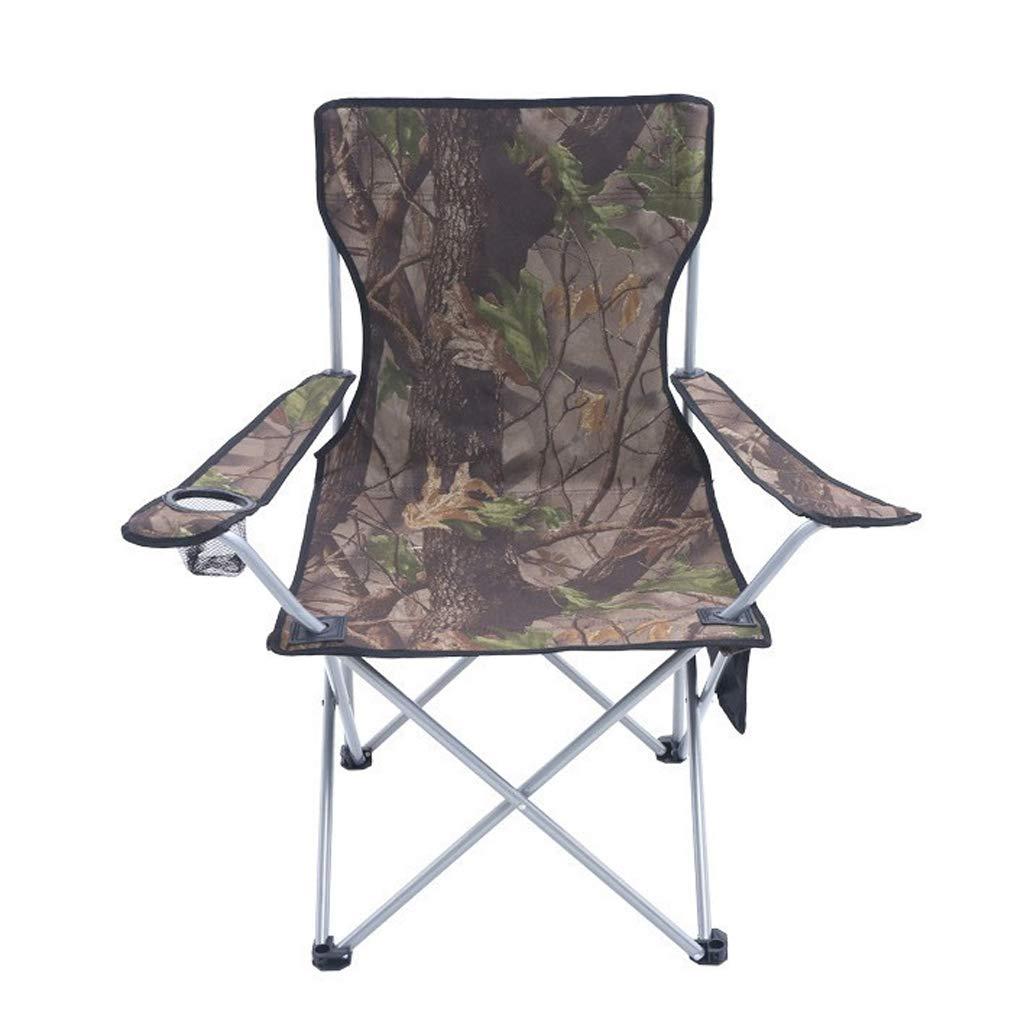 キャンプチェア、カップホルダーとアームレスト付きキャンプスツール屋外用チェアスラッカーチェア600Dオックスフォード布用バーベキュー、キャンプ、釣り、旅行、ハイキング、庭、ビーチ   B07P2V81JY
