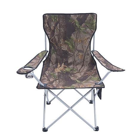 YL Sillas de camping Con Portavasos Y Reposabrazos Plegable ...