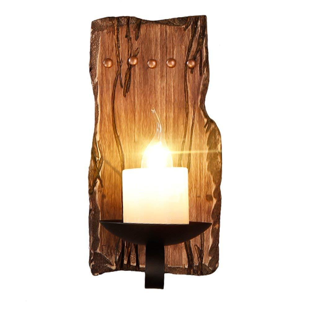 Vintage Industrie Wandleuchten Loft Holz Retro für Restaurant, Gang, Korridor, Eingang, Bar, Cafe, Schlafzimmer Nachttisch Wandlampe Glasschirm