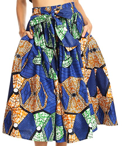 Full Skirt Print Skirt - 1