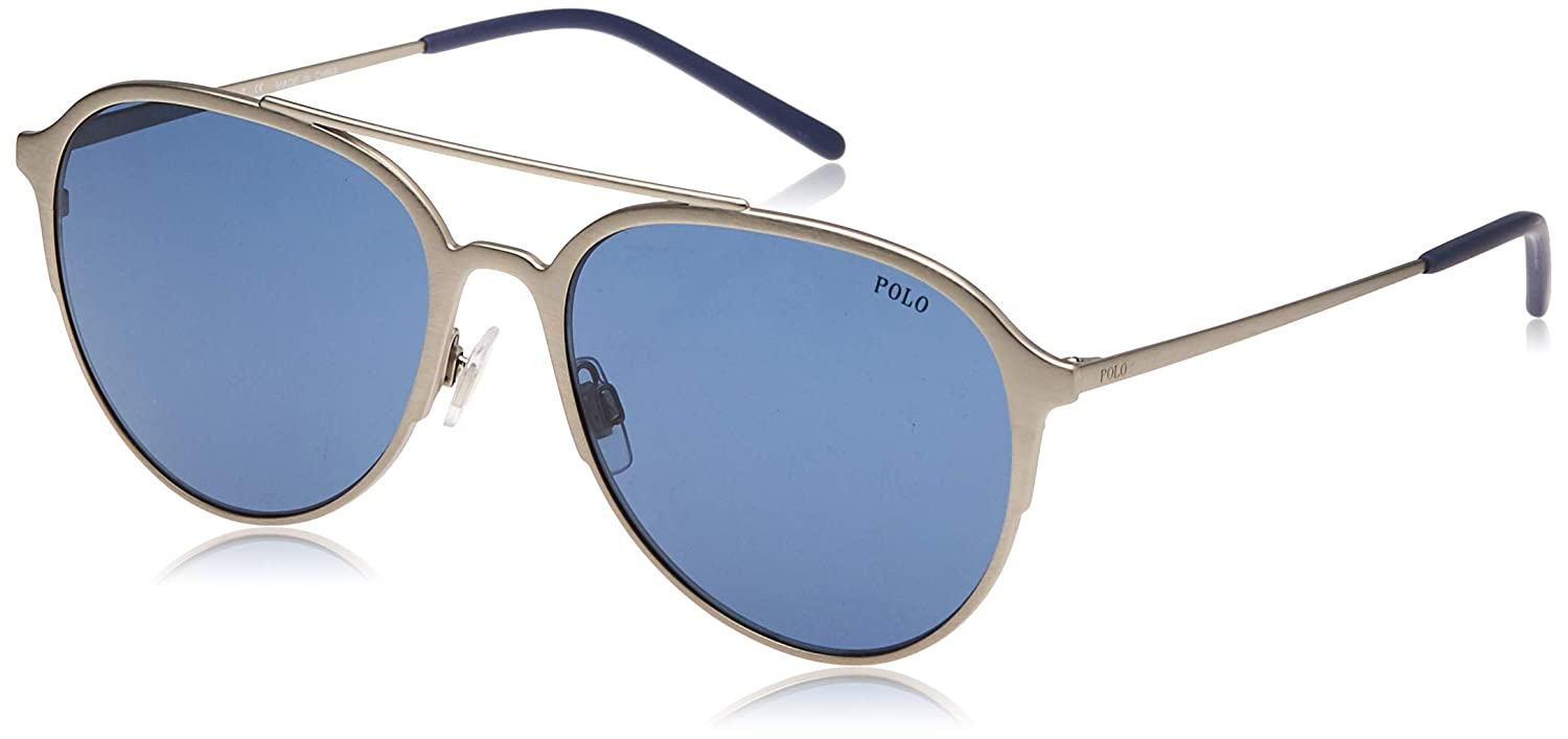 Polo 0PH3115 Gafas de sol, Aviador, 58, Semi Shiny Brushed Silver ...