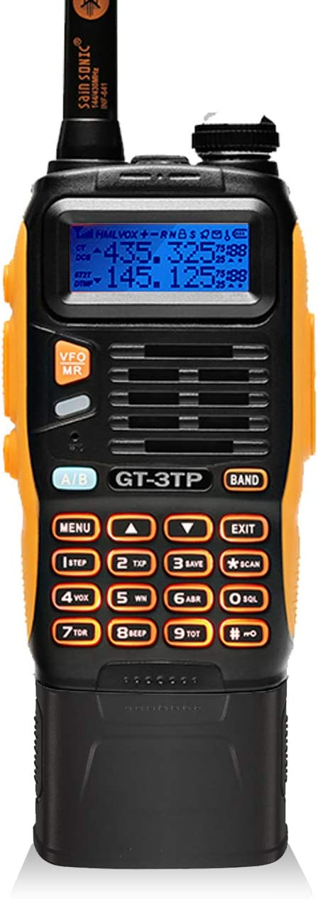 BaoFeng GT-3TP Mark-III Tri-Power 8 4 1W Two-Way Radio Transceiver with 7.4V 3800mAh Battery, Dual Band 136-174 400-520 MHz True High Power, Upgraded Chip, High Gain Antenna, Car Charger