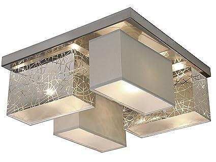Deckenlampe wero design eris 004 e silber a grau deckenleuchte
