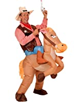 Inflatable Adult Ride on Horse Cowboy Cowgirl Fancy Halloween Party Couple Costume