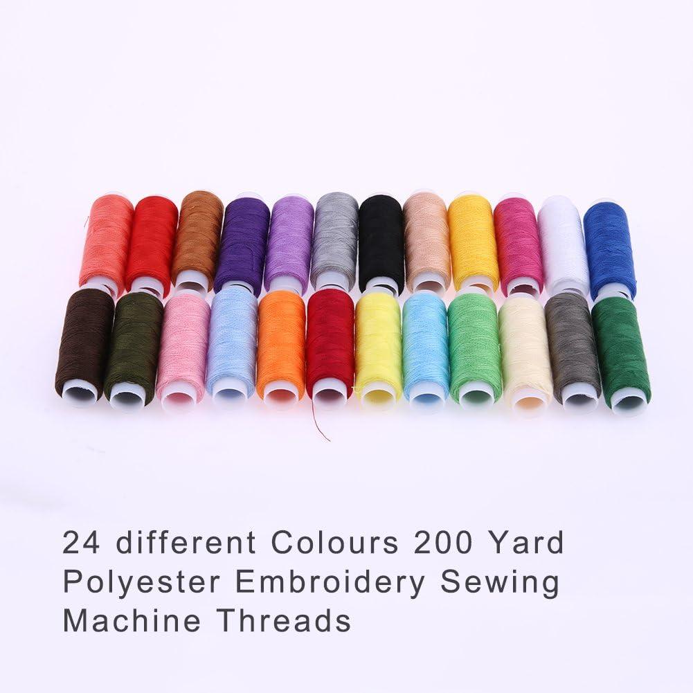 ultimafio (TM) poliéster bordado máquina de coser hilos 24 calibre ...