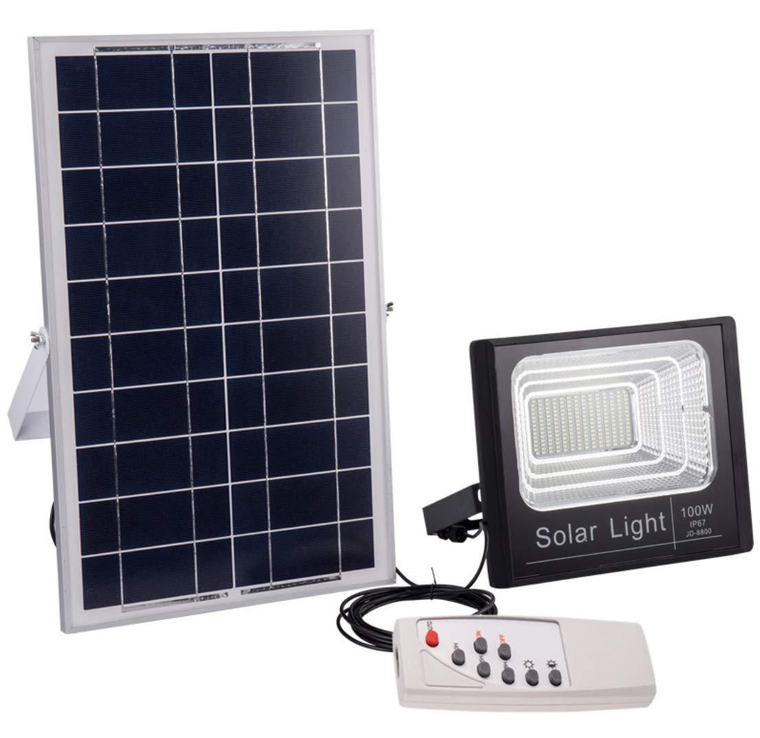 ordina ora i prezzi più bassi LED Proiettori Solari,Outdoor Impermeabile Impermeabile Impermeabile Luce Di Sicurezza Da Giardino Luci,Alta Luminosità E Facilità Di InsDimensionezione Con Telecomando E Funzioni Di Temporizzazione,Adatto Per Giardini,Garage,100W  fino al 42% di sconto