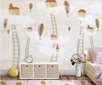 Papel pintado de foto grande personalizado mural 3d habitación de los niños cielo escalera cielo casa fondo papel de pared papel de parede mural-Los 400 * 280cm: Amazon.es: Bricolaje y herramientas