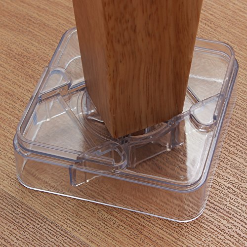 DingHeng 16 pack Clear Furniture Risers - For the Bed, Desk