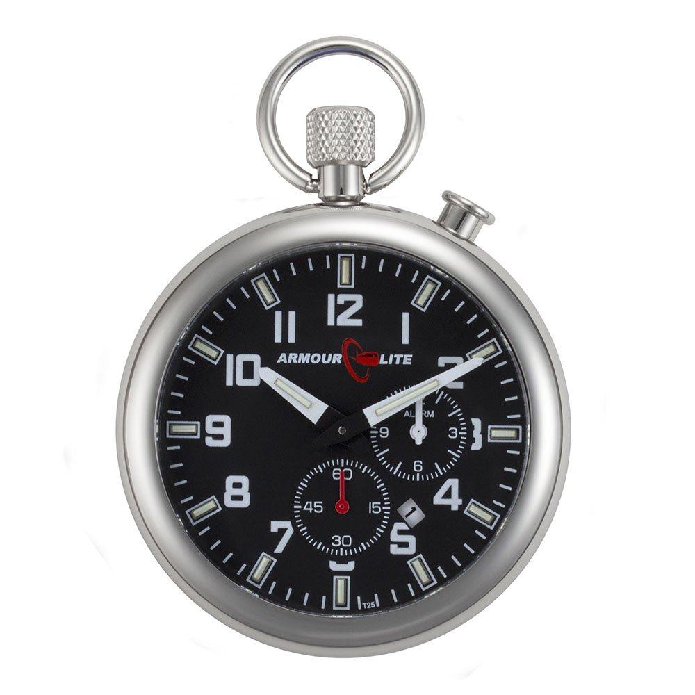 Amazon.com: Black Dial Alarm Clock Tritium Pocket Watch by Armourlite: Watches