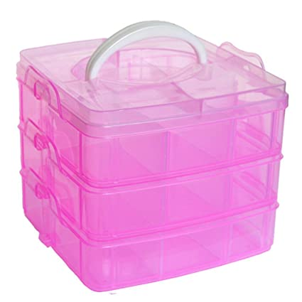 Home Storage BoxesFullfun Small 3 Level 18 Block Plastic Desktop Storage Toolboxes with Carrying  sc 1 st  Amazon.com & Home Storage Boxes Fullfun Small 3 Level 18 Block Plastic Desktop ...