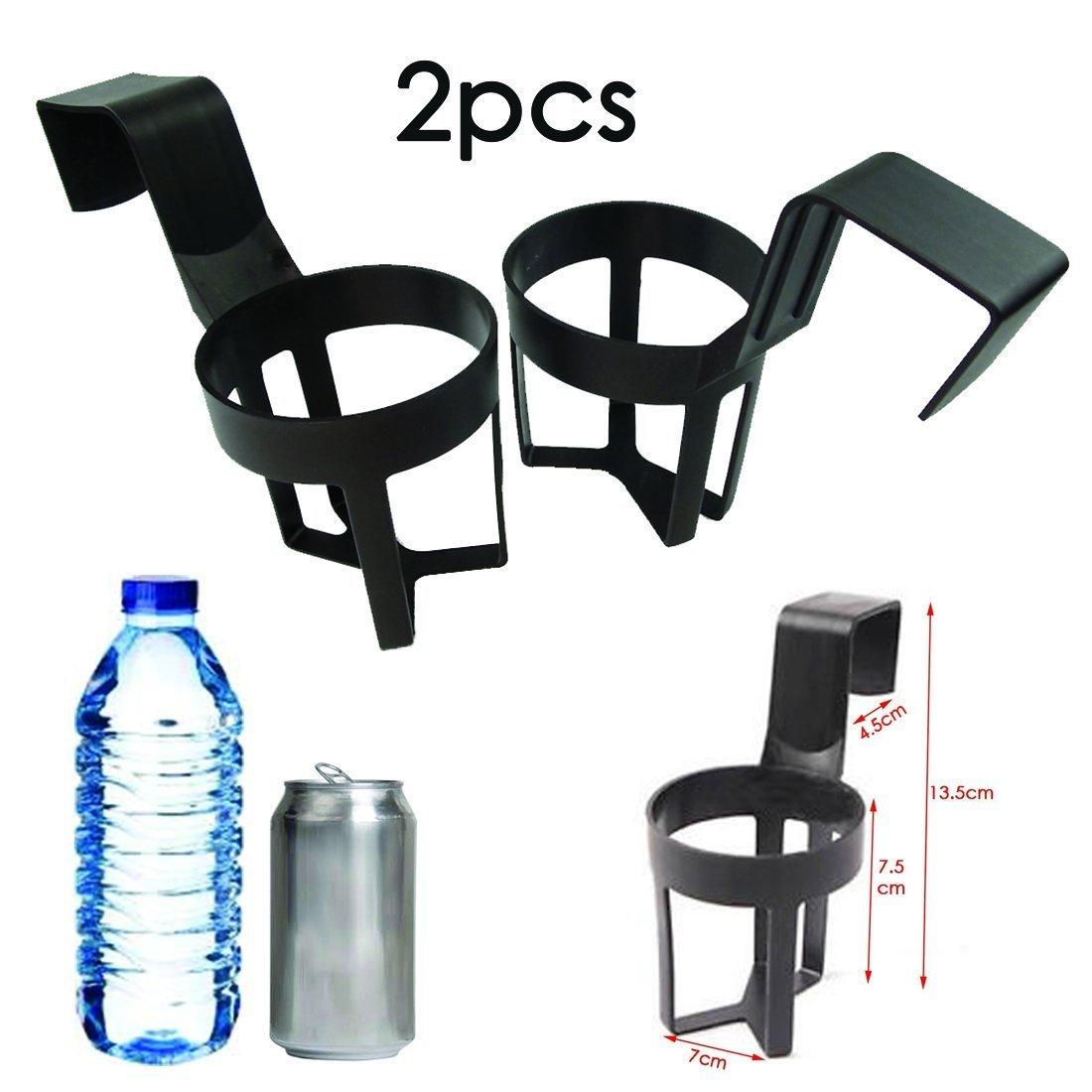 Warehouseshop WSS - Black 2Pcs Car Truck Van Door Cup Mount Beverage Drink Bottle Hanging Holder Stand Organiser