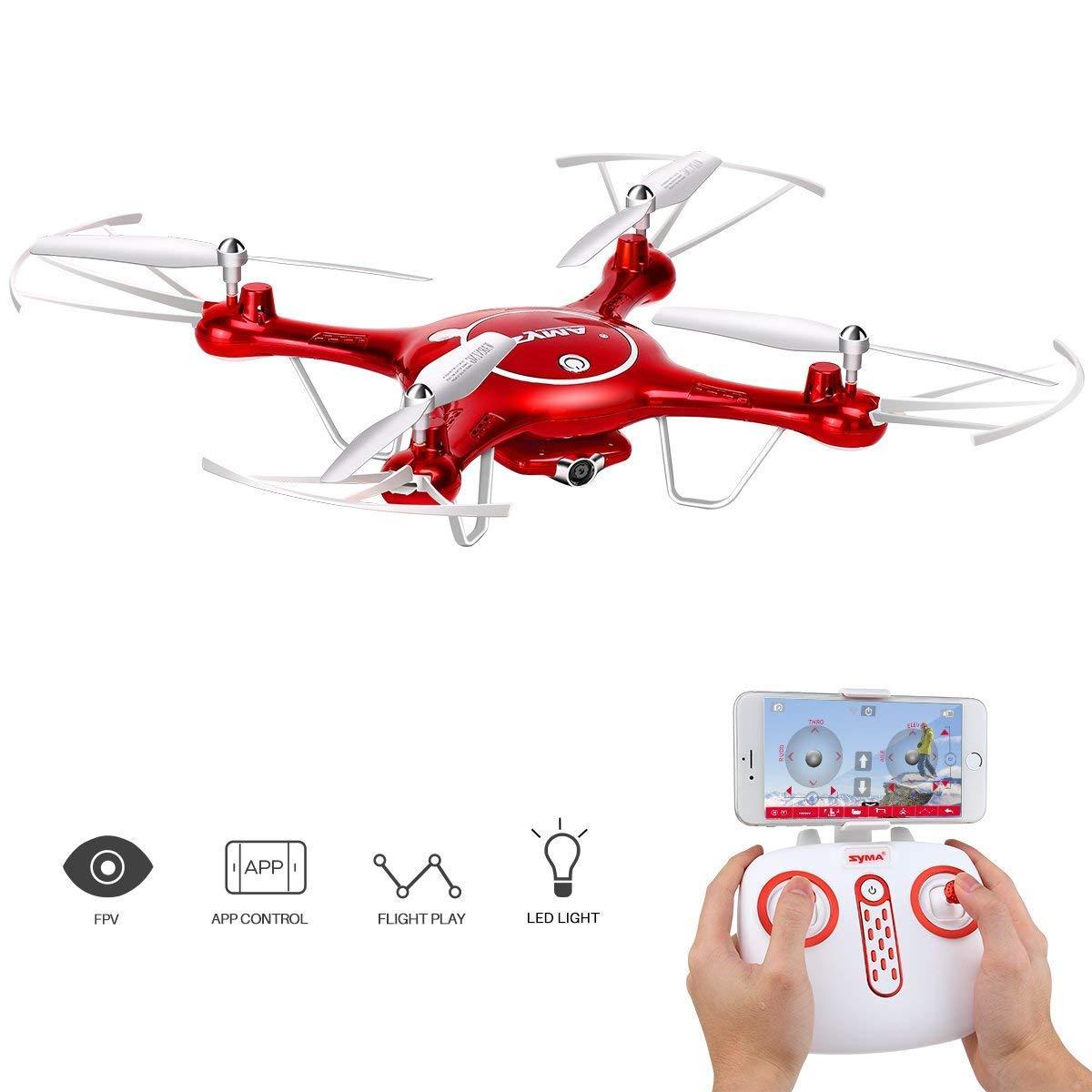 Todo en alta calidad y bajo precio. XJ0526 Dron con 720P HD Cámara, X5UW X5UW X5UW WiFi FPV RC Quadcopter Headless Al Aire Libre, Batería De Bono 2.4 G 6 Ejes Gyro (Rojo)  mas barato