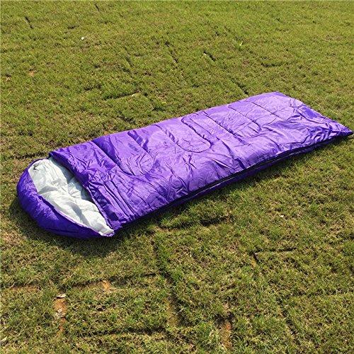 Mtef コンパクト エンベロープタイプ スリーピングバッグ 封筒型 寝袋 春用 夏用 秋用 最低使用温度5度 軽量 スリーピングパッド 旅行キャンプ 野外活動 ハイキングのために 収納袋付き B06XT9ZV94  パープル