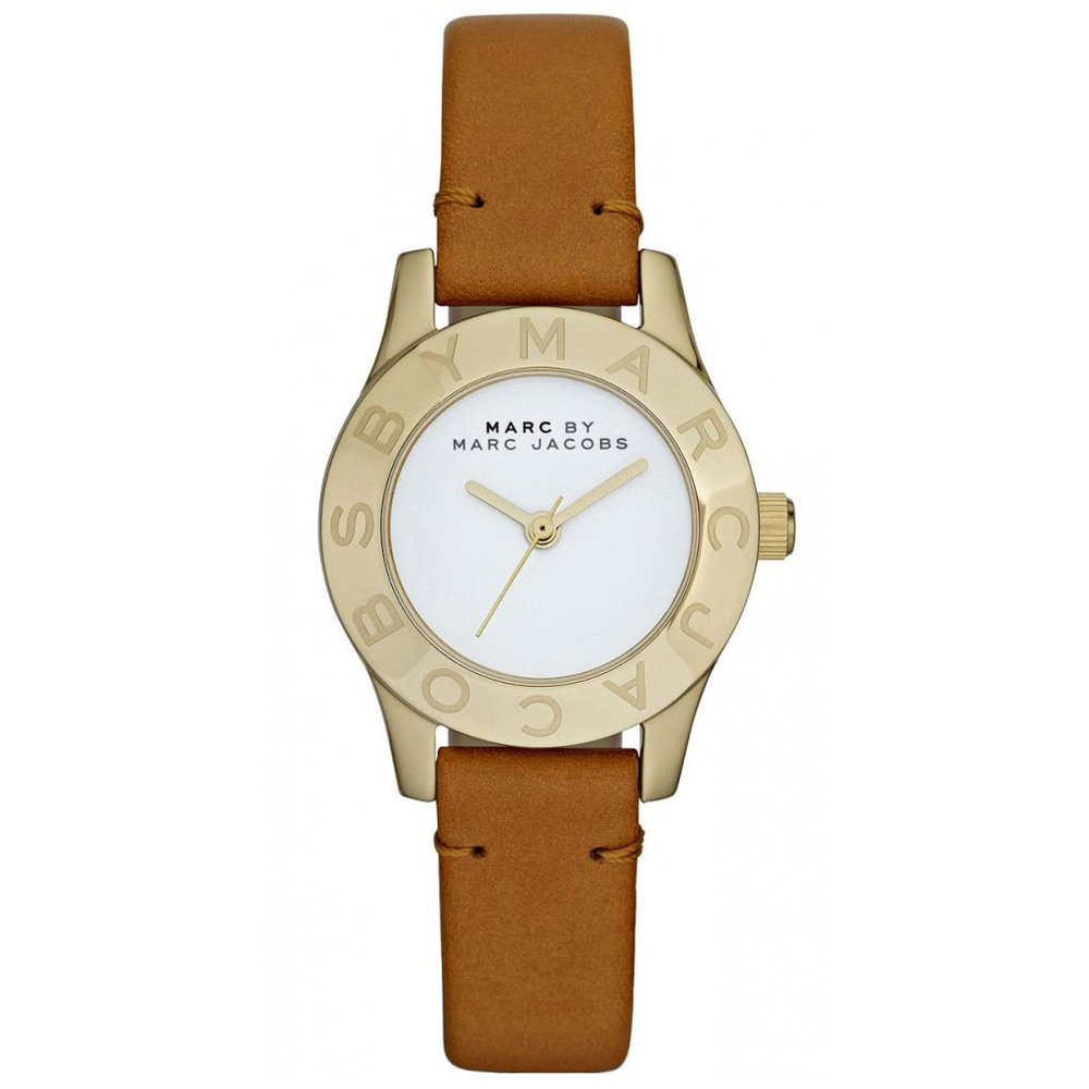 Marc by Marc Jacobs Mini Blade Tan Leather Strap Women's Watch - MBM1219