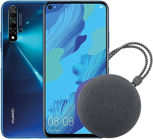 HUAWEI Nova 5T Smartphone,  Blu+ Speaker Bluetooth, 128GB+6GB RAM, Fotocamera Principale da 48MP, Processore Kirin 980 con Intelligenza Artificiale [Italia]