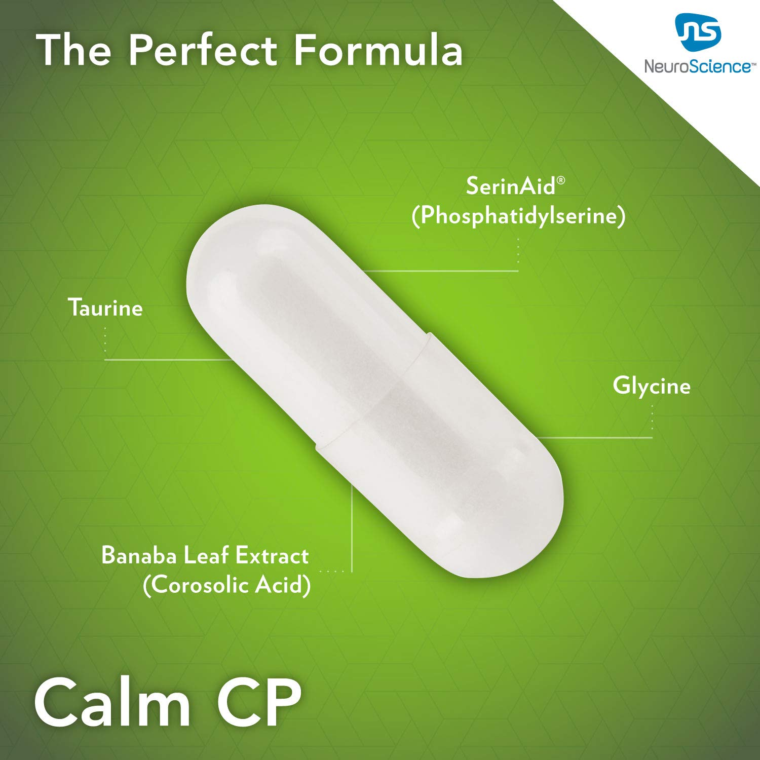 Amazon.com: NeuroScience - Calm CP con fosfatidilserina y ...