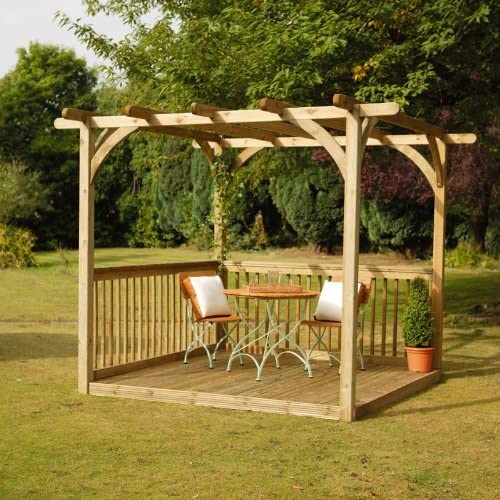 2, 4 x 2, 4 m tabla fácil Kit de Pergola: Amazon.es: Jardín