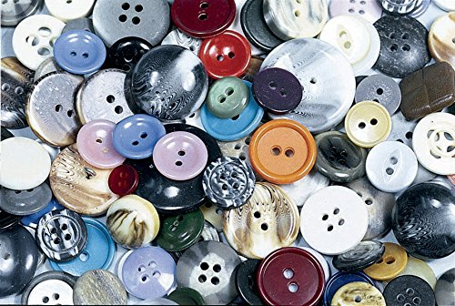 School Specialty Craft Button Assortment, Assorted Size, Assorted Color, 1 lb ()