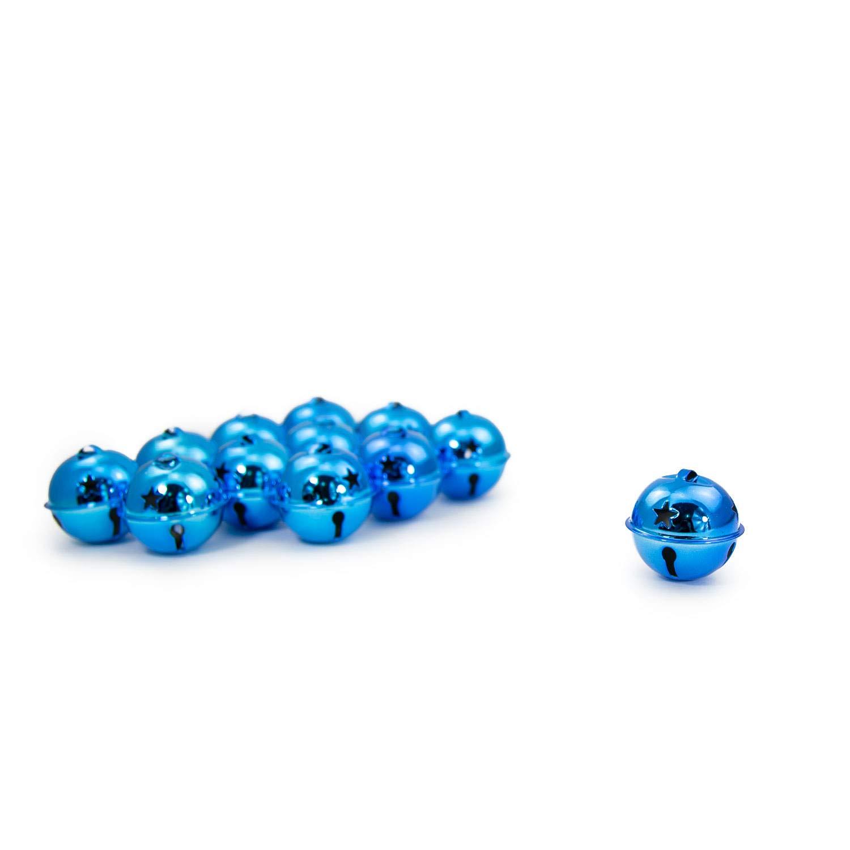 Oblique Unique/® Lot de 12 Cloches de No/ël en m/étal 40 mm pour d/écoration de Table D/écoration de No/ël D/écoration de No/ël