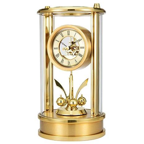 GWM Reloj Reloj de Cristal de Moda de Oro Reloj de sobremesa Sala de Estar Decoración