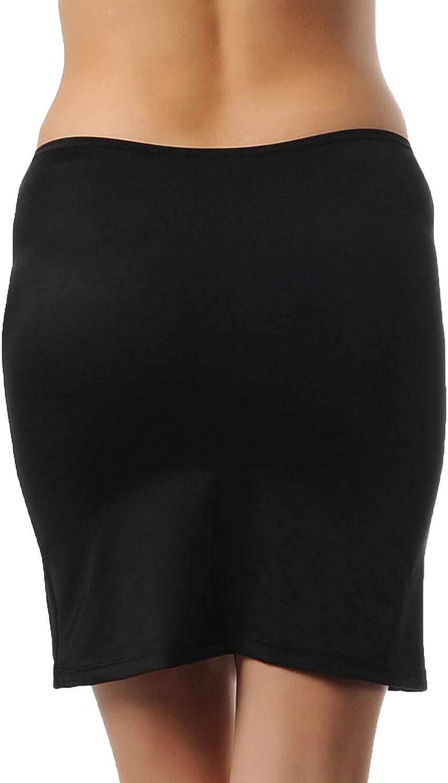 Doreanse Unterrock Mini Rock Unterkleid Blickdicht Jupon Soft Half Slip