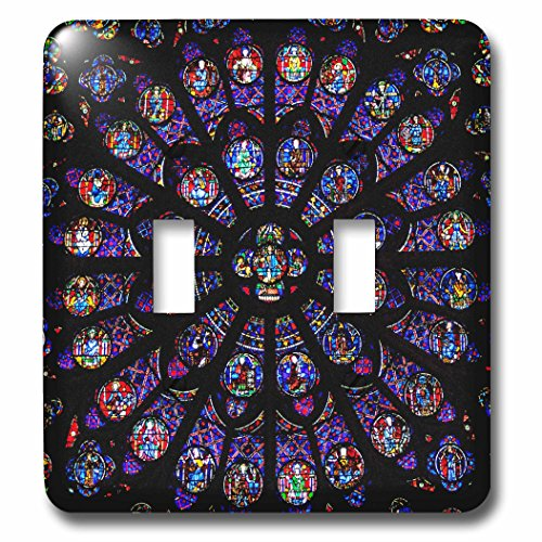 3D Rose LSP_239228_2 South Rose Window of Notre Dame Cathedral in Paris Double Toggle Switch