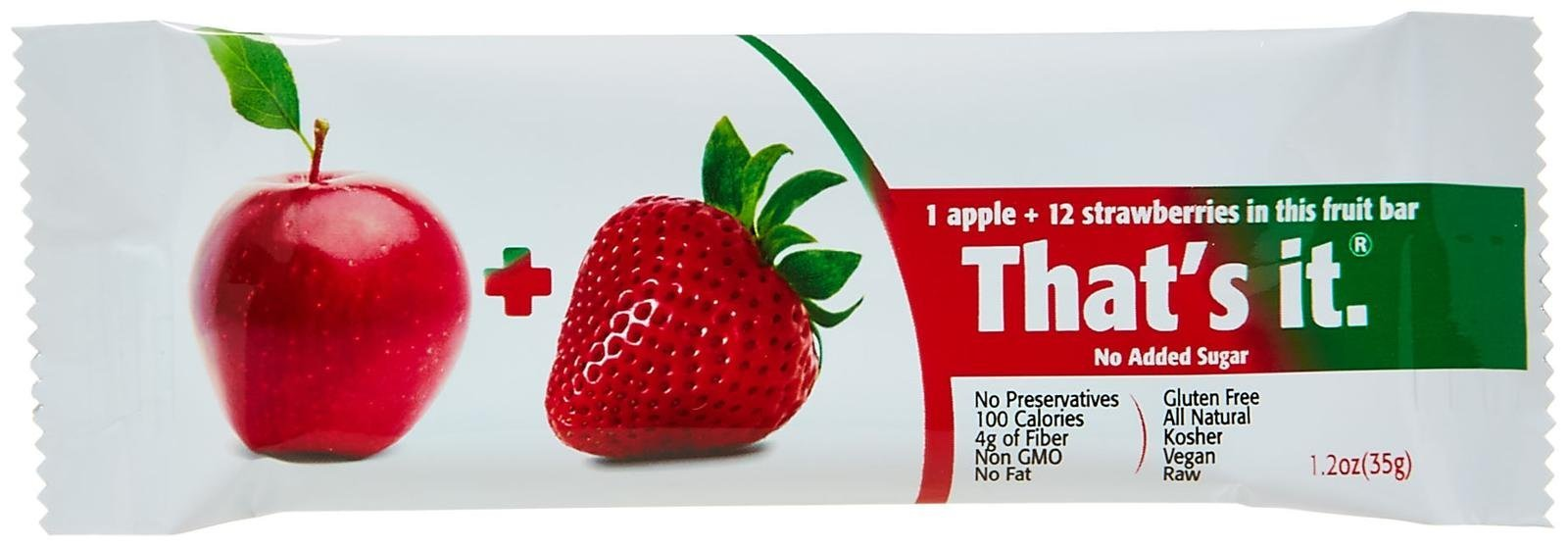 That's It Fruit Bars - Apple Strawberry - 1.2 Ounces