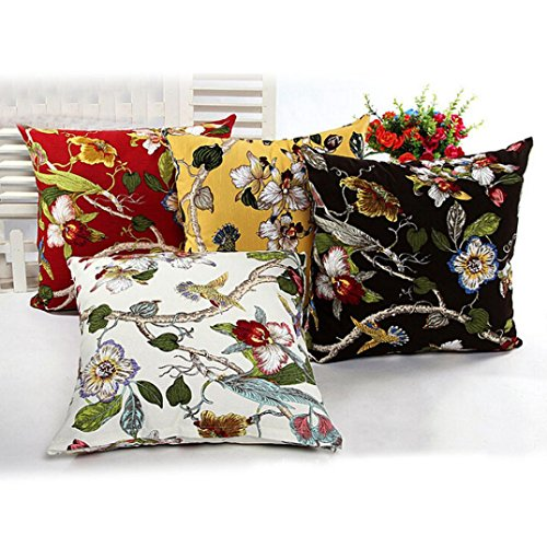 """Ikevan Fine Spring Sofa Bed Home Decor Pillow Case Cushion Cover(18"""" x 18"""") (Red)"""