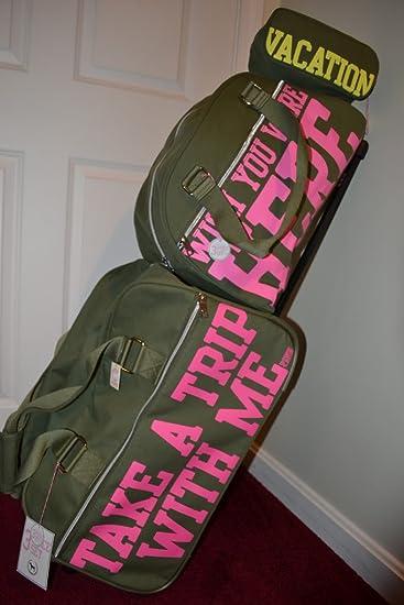 Amazon.com: Victoria's Secret Pink 3 Piece Luggage Travel Set ...