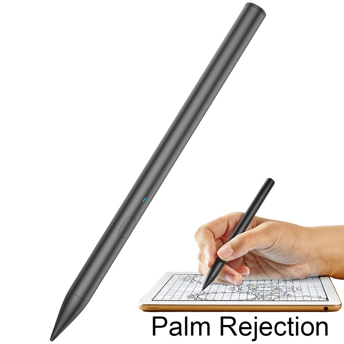 Stylus Pens for Apple ipad Pencil, with Palm Rejection, High Sensitivity Capacitive Stylus for iPad Pro (3rd Gen), iPad (6th Gen), iPad Air (3rd Gen), iPad Mini (5th Gen), Black Digital Pen by YOBWIN