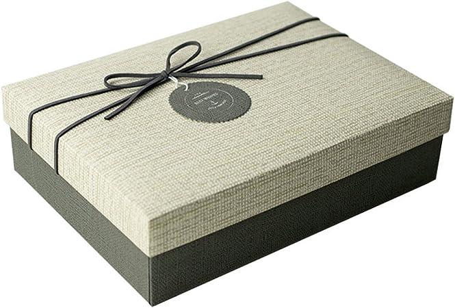 RemeeHi Caja de Regalo Gran tamaño Caja de Papel Grande Cajas de cartón Caja de Papel de tamaño Grande para T Shirt/Bufanda: Amazon.es: Hogar