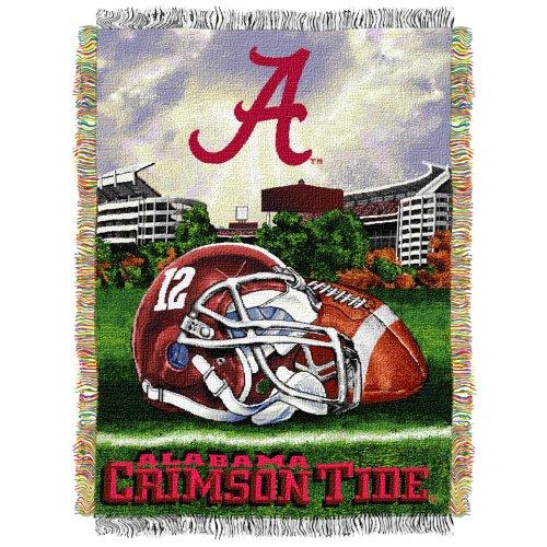 NCAA Alabama Crimson Tide 48-Inch-by-60-Inch Acrylic Tapestry Throw