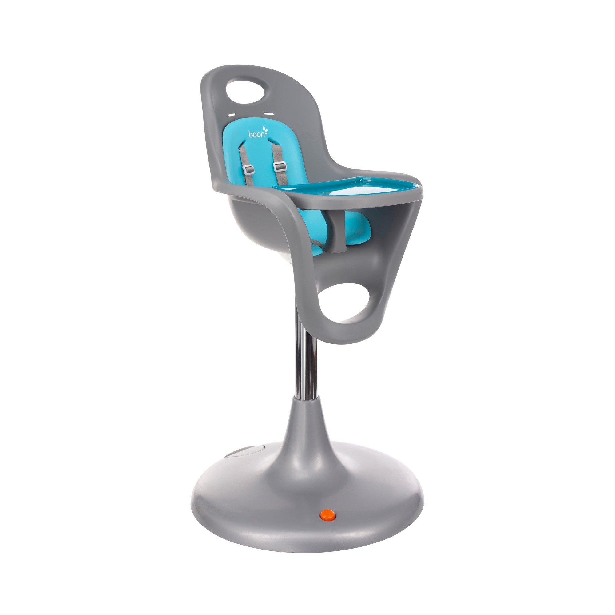 Boon Flair Pedestal Highchair, Blue/Gray