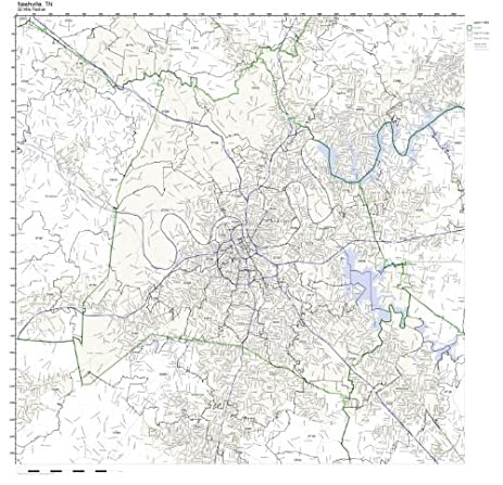 Amazon.com: Nashville, TN ZIP Code Map Not Laminated: Home & Kitchen