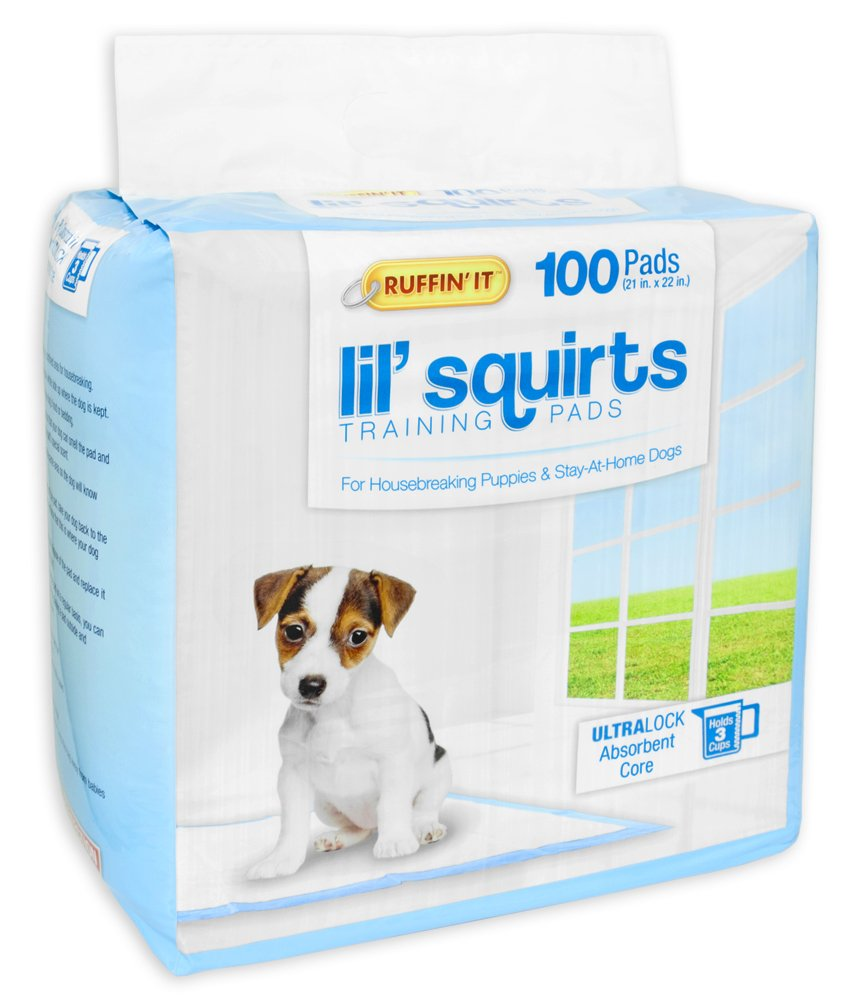 Ruffin' It 100-Pack Lil' Squirts Training Pads