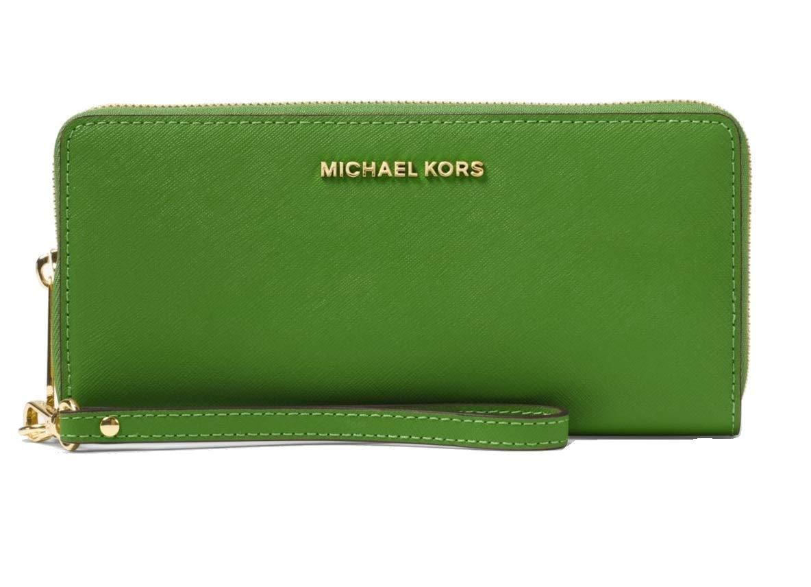 MICHAEL Michael Kors Women's Jet Set Continental Wallet, True Green