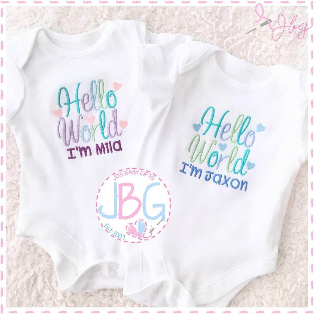 Personalised Crown Design Baby//Toddler Vest//Bodysuit Great Newborn Baby Gift