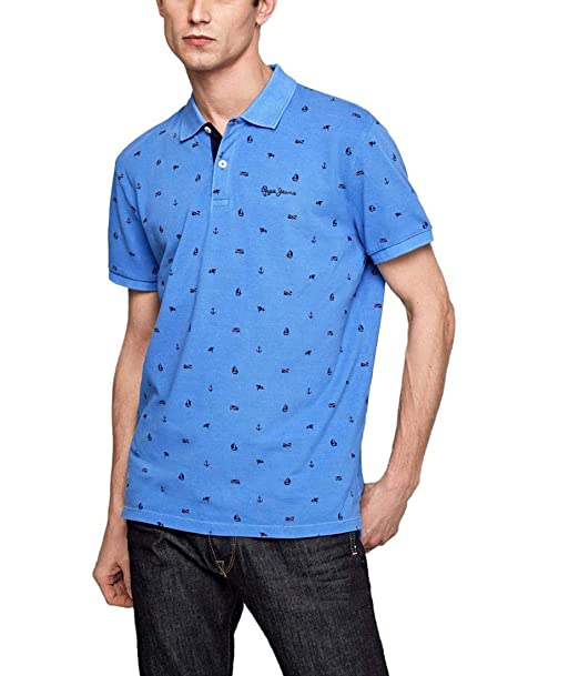 Pepe Jeans Polo Sergio Azul Hombre L Azul: Amazon.es: Ropa y ...