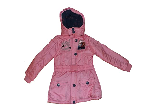 Disney - Abrigo - Plumaje - para niña rosa 4 años