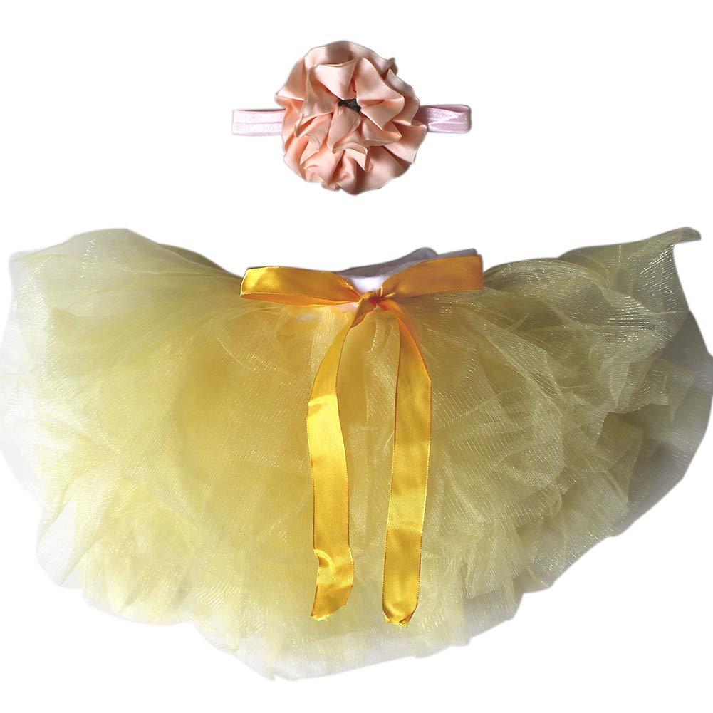 HugeStore Baby Säugling Neugeborenes Tutu Kleidung Kostüm Foto Prop Outfits Bekleidung Set Gelb