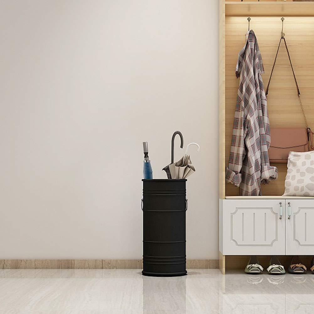 Nero 22X50 Cm GUOYANHOME Portaombrelli in Metallo Stile Industriale Ufficio Hall Creativo Piano Contenitore Secchio