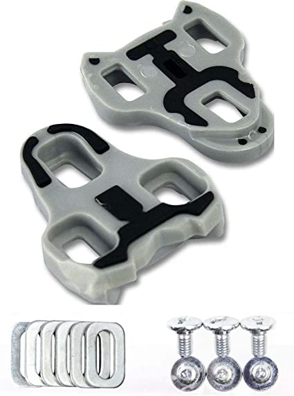 Look Keo Cleats Bi-Material Grey 4.5 Degree Float 3-Hole Road Clipless Pedals