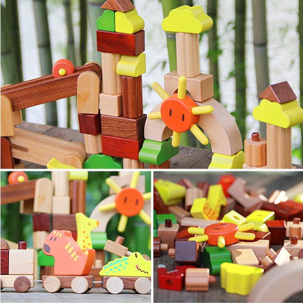 HXGL-Toys Wooden Toys Animal Parks Building Blocks Puzzles Early Education Gifts Pieces (Color : Multi-Colored) by HXGL-Toys (Image #3)
