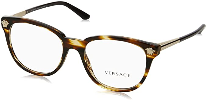 8df08cc6a7 Amazon.com  Versace Women s VE3242 Eyeglasses 54mm  Clothing