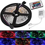 YouOKLight YK0416 16.4FT/5M Flexible RGB LED Light Strips With 24Key Remote Controller , 300 Units SMD 3528 LEDs Non-Waterproof 2000lm RGB LED Flexible Strip Lamp (DC12V)