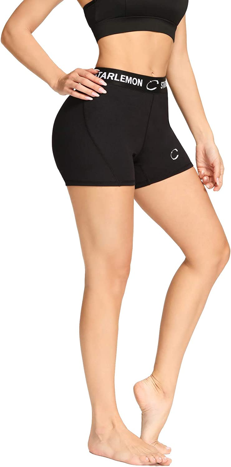 """Starlemon Women's Compression Volleyball Shorts 3""""/7"""" Spandex Workout Pro Shorts for Women : Clothing"""