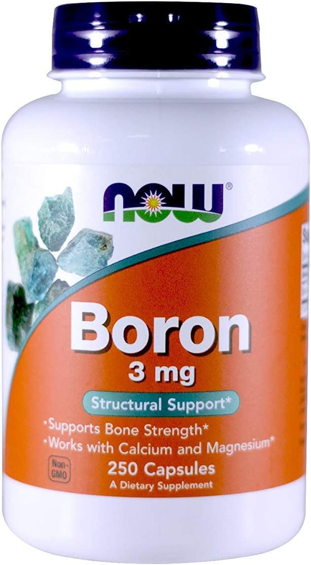NOW Foods Boron, 8 mg, 8 Capsules (Pack of 8)